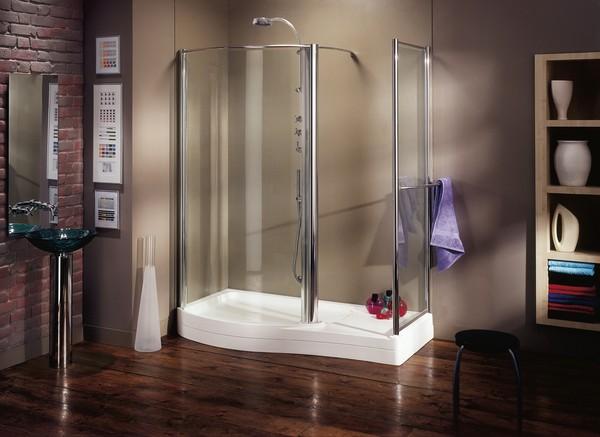 Phòng tắm xông hơi với thiết kế đơn giản
